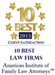 10 Best Law Firms. American Institute of Family Law Attorneys