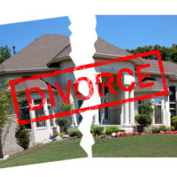 Image of house with the word divorce on it