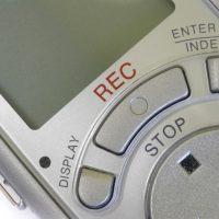 digital voice recorder close-up